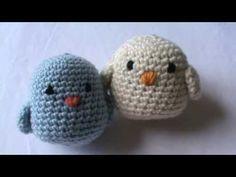 Croche passarinhos amigurumi parte 1 - YouTube