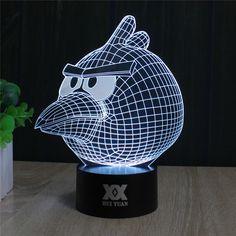 ANGRY BIRD 3D LED LAMP