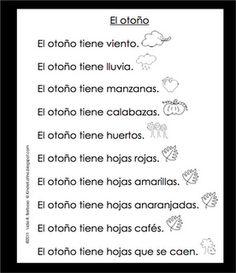 Kinder Latino: Bilingual Teaching Resources: Shared Reading: El otoño