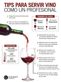 Steps to serve wine at a party like a professional - Gourmet from Mexico: Live the pleasure of gastronomy. Bar Drinks, Wine Drinks, Alcohol Recipes, Wine Recipes, Comida Diy, Alcholic Drinks, Dining Etiquette, Etiquette And Manners, Spanish Wine