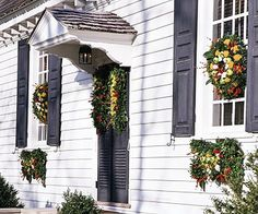 Symbolize generosity with holiday decorations by using them at the door and also the windows. Fruits and greenery, which are often free for the cutting, are the primary ingredients. In winter, these fresh materials usually last several weeks before browning.