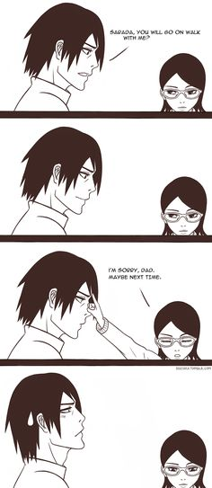 And again the same thing, this time it was not Itachi but it is his own daughter Sarada hahahaha
