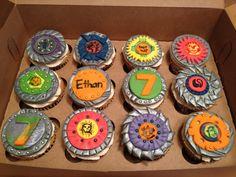 Beyblade Birthday Cupcakes