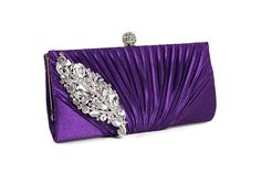 Purple Bridal Clutch, Purple Evening Bag, Bridesmaids Clutch, Wedding Accessories, Bridal Accessories on Etsy, $77.77 AUD