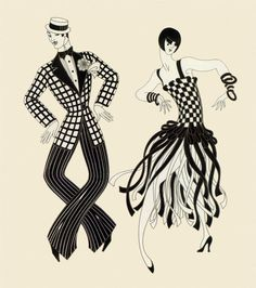 Charleston Couple			Erte - by style - Art Deco