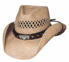 f650158fd03 New Montecarlo Bullhide Hats CC Rider Biker Raffia Straw Western Cowboy Hat