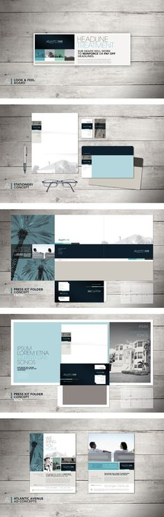 Atlantic One Real Estate Branding Package : Hector Batista