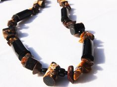 Black coral and Tiger eye necklace (Nicci)