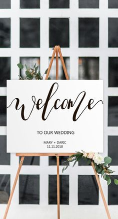 Welcome wedding sign entrance, Welcome wedding sign diy, Welcome wedding poster print, Welcome rustic print, Printable Welcome template, wedding welcome download , Marriage sign.