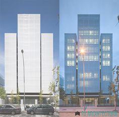 Como influye las transparencias del textil con la iluminación del edificio