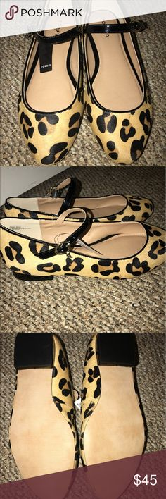 Leopard print Mary Jane flat Brand new, tag still attached. torrid Shoes Flats & Loafers
