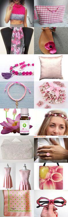 Think pink! by mariliartbymaria on Etsy--Pinned+with+TreasuryPin.com