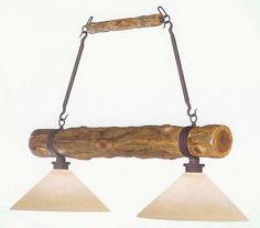 Rustic Kitchen Lighting Fixtures | Log Island Light    Www.4rusticlighting.com