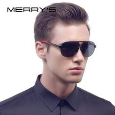 1be065c9c6 MERRY S Men Classic Brand Sunglasses HD Polarized Aluminum Sun glasses EMI  Defending Coating Lens Driving Shades