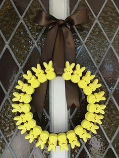Peeps Easter Wreath