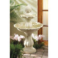 Garden Classic 3-Tier Fountain, Beige Off-White (Polyresin)