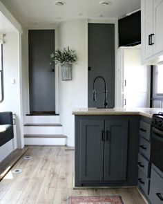 or toy hauler that could use some help? Updating an R. and replacing the sofa is easier than you might think. Rv Interior Remodel, Camper Renovation, Airstream Interior, Vintage Airstream, Vintage Campers, Rv Kitchen Remodel, Toy Hauler Camper, Camper Trailers, Rv Campers