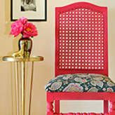 Craftista: My Yard Sale Chair Turned Chic.Re-purpose & Re-use what you have on hand. Don't shop 4 DIY.