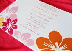 Tropical wedding invite!