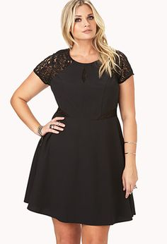 Elegant Crochet Lace Dress | FOREVER21 PLUS - 2000065539