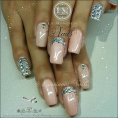 Luminous+Nails+&+Beauty,+Gold+Coast+QLD.+Gel+Polish+on+Natural+Nails+wit+Bling.+Gelish+Forever+Beauty+&+Vegas+Nights+with+Crystals+for+shimmer+&+Bling.+Sunless+Spray+Tans..jpg 1,598×1,600 pixels