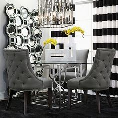 Capri Panels - Black and Ivory   Free Shipping   Free Shipping   Z Gallerie