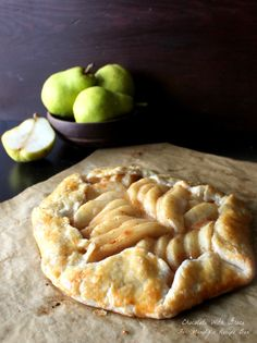 Caramel Pear Tart by Chocolate with Grace