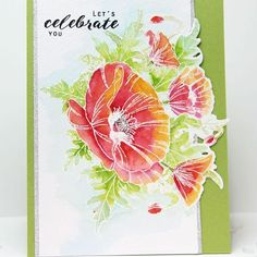 Coordinating dies make your crafty life so much easier! @wirianta says so on the blog today with these beautiful Thoughtful Poppies. Head over to the blog for more details! #theton #thetonstamps #cardmaking #papercraft