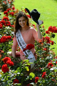 Rose of Tralee & Texas Rose Haley in the Rose Garden, Tralee The Rose Of Tralee, International Festival, Texas, Spaces, Amp, Garden, Dresses, Design, Fashion