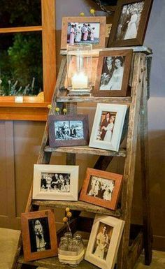 2019 Top 14 Must See Rustic Wedding Ideas for a Memorable Big Day---great vintage wedding decor ideas with ladders and old photos, rustic country wedding decorations, barn weddings, wedding reception, Rustic Decor, Farmhouse Decor, Vintage Decor, Country Farmhouse, Unique Vintage, Rustic Style, Rustic Wood, Rustic Theme, Vintage Men