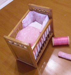 how to: bedding for a dollhouse crib