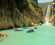Kayaking in the Santa Maria River, San Luis Potosi, Mexico. #BucketList