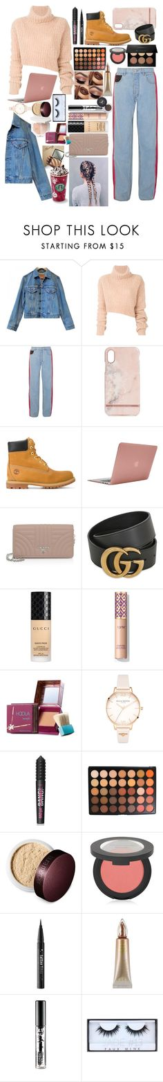 """""""Cozy winter"""" by musicmonica ❤ liked on Polyvore featuring Levi's, Ann Demeulemeester, Koché, Richmond & Finch, Timberland, Incase, Prada, Gucci, Benefit and Olivia Burton"""
