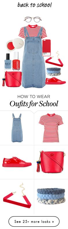 """Back to School!"" by mrudula-26 on Polyvore featuring RE/DONE, Glamorous, Common Projects, Dolce&Gabbana, Case Scenario, Garrett Leight, lilah b. and Lauren B. Beauty"