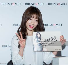 South Korean actress Park Shin-Hye attends the autograph session for Bruno Magli at Shinsegae Department Store on January 25, 2015 in Busan, South Korea.