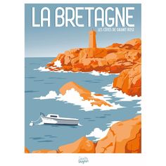 Affiche Repro Sivignon Bretagne x cm, Click web site other content Illustration Parisienne, Paris Illustration, Travel Illustration, Aqua Paint, Ville France, Travel Oklahoma, Urban Sketching, New York Travel, City Art