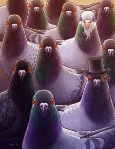 Pigeons by tamiart on DeviantArt