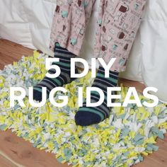 5 diy rug ideas diy home crafty rugs nifty Cute Crafts, Diy And Crafts, Yarn Crafts, Creation Deco, Hacks Diy, Diy Videos, Diy Home Decor, Diy Projects, Sewing Projects
