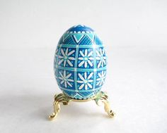 Featured in another treasury! Blue Easter Eggs by Sabine on Etsy