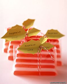 Homemade soaps! Perfect gift for guests or Christmas stocking stuffers!