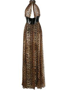Plunge Dress, Chiffon, Silk, Female, Shopping, Stitching, Dresses, Women, Brown