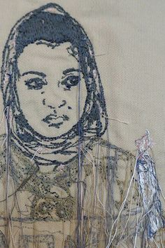 Sophie Strong | Candlelight Protest | Machine Embroidery (detail)