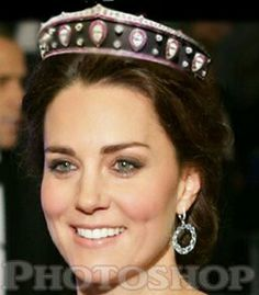 Queen Marie of Romania's Blackened Steel Kokoshnik PHOTOSHOPPED onto Catherine, Duchess of Cambridge. Lovinlorne.