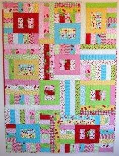 Jelly Roll Quilt Patterns for Beginners | hang it on my wall, take a picture and just leave it there for a few ...
