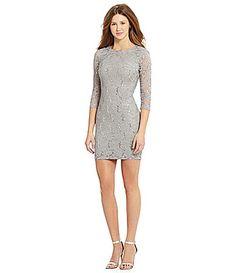 8776c3c30e B Darlin 34Sleeve Sequin Lace Dress  Dillards