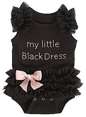 I can just imagine Niall having a little girl and putting this on her and starts singing 'little black dress just walked into the room....'
