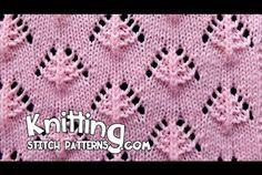 Pine Trees | Lace Knitting Stitch #13