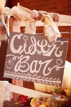 have a cider bar at your wedding! http://www.weddingchicks.com/2013/10/11/alabama-wedding/