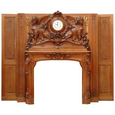 Unique Fireplace Mantels medieval style terracotta fireplace - 19th century - # c3046