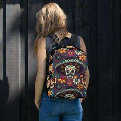 Day of the Dead Backpack Fashion Backpack, Backpacks, Pocket, Day, Backpack